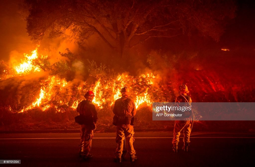 Detwiler Fire Rages In California