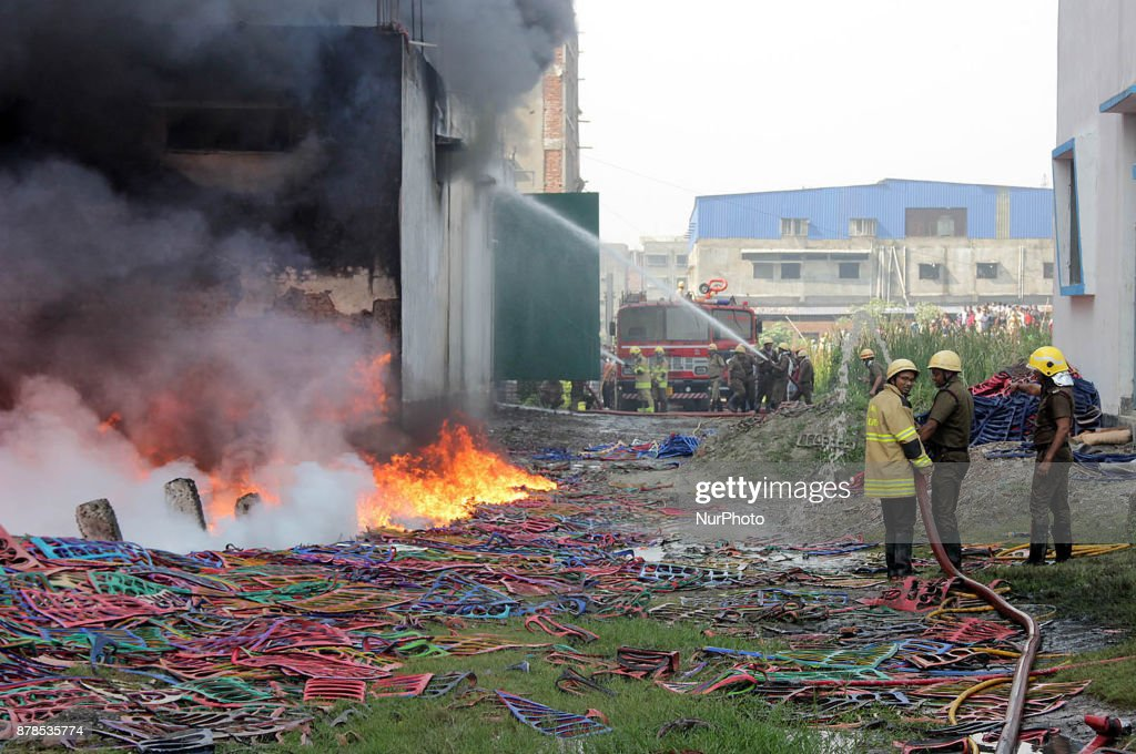 Fire broke out in a footwear factory