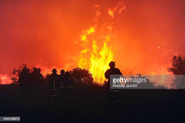 Firefighters try to extinguish a forest fire which has already destroyed 2600 hectares on August 31 2010 near the French southern city of Assas AFP...