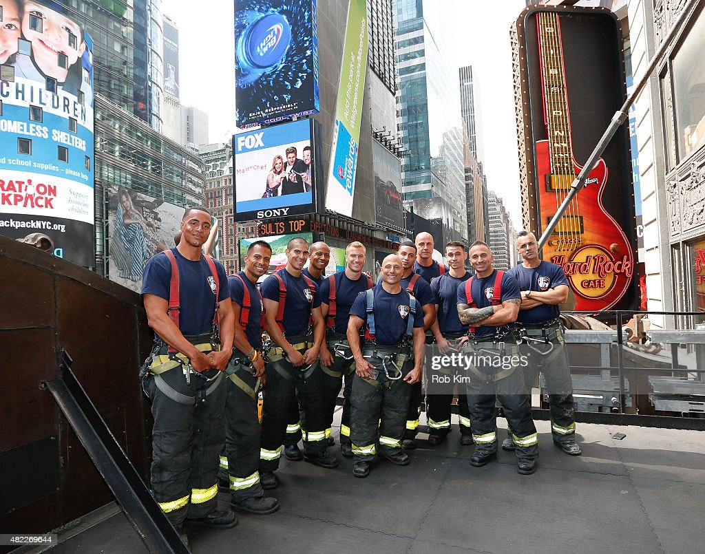 FDNY Calendar Launch at Hard Rock Cafe, Times Square on July 29, 2015 ...