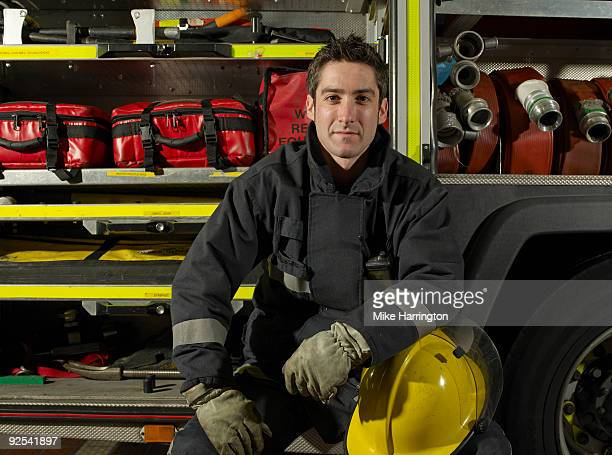 Fireman and Fire engine.