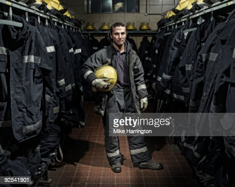 Fireman at Fire Station