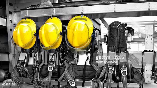 Fireman Hat in Fire Truck