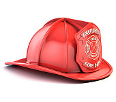 fireman helmet 3d isolated illustration