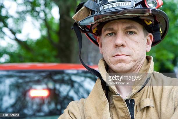 Fireman looking at camera