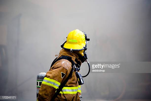 Fireman Looking Back