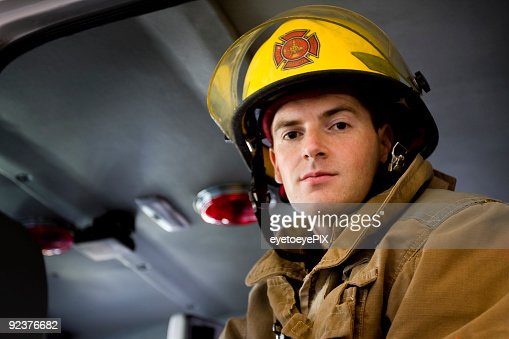Fireman ready for action