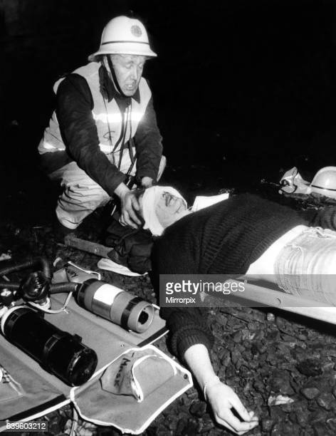 Firemen and ambulance staff were put to the test by a simulated derailment and explosion in a Tyneside rail tunnel on 17th March 1986 To make the...
