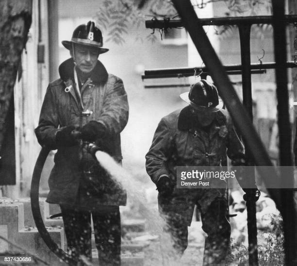Firemen At Work Denver firemen battle a fire possible started by an arsonist which caused heavy damage to a twostory vacant residence at 732 28th St...