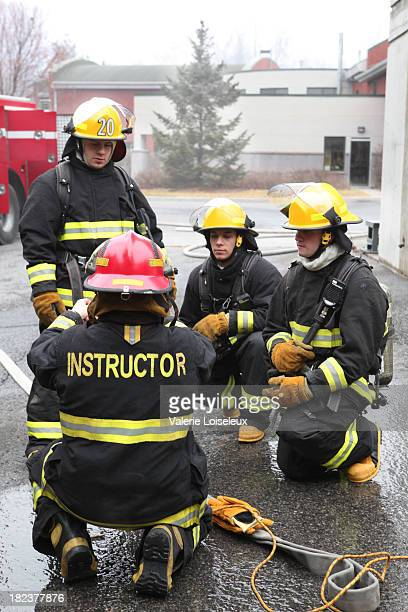 Firemen with instructor