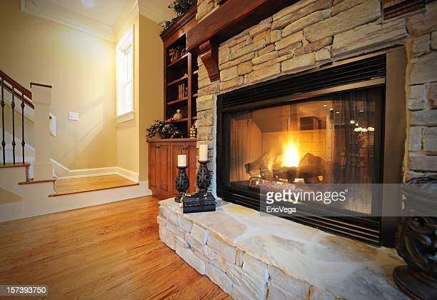 Fireplace in Luxury Home Interior