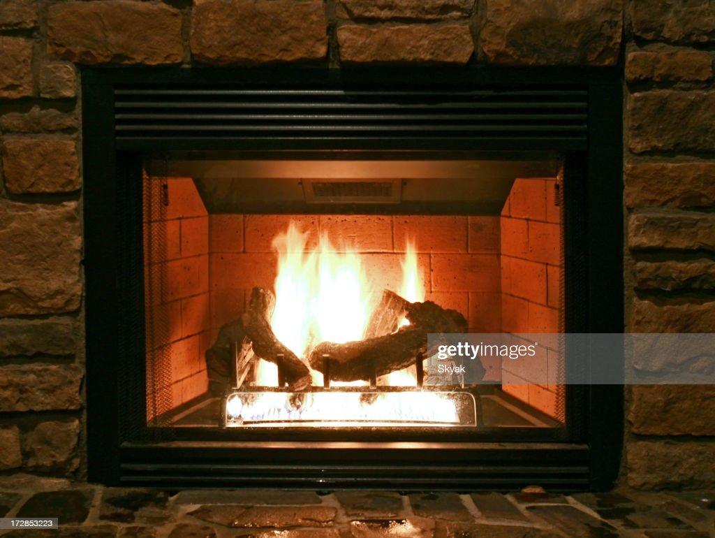 Fireplace : Stock Photo