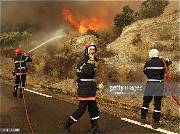 Fires in Balagne area of northern Corsica In Bastia France On September 04 2003