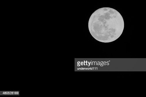 Firest Full Mini Moon 2014 : Stockfoto