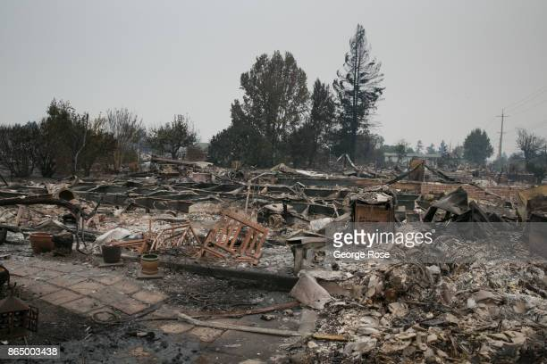 A firestorm that began in Napa Valley's Calistoga destroys more than 800 homes just in the Coffey Park and Orchard Mobile Home Park neighborhoods is...
