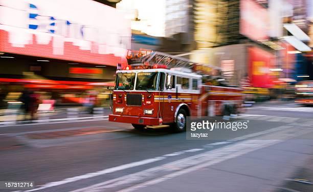 Feuerwehrwagen-Time Square