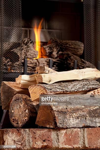 Bois de chauffage et feu