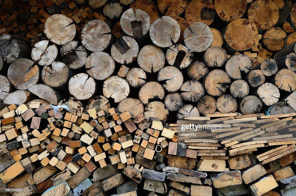 Firewood Pattern : Stock Photo