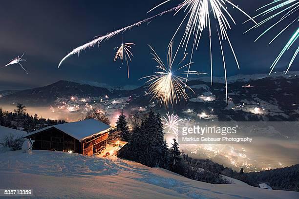 Firework and Ski Cabin