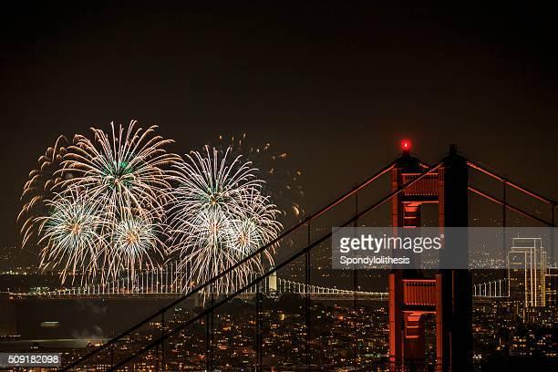 Feuerwerk in San Francisco, Kalifornien