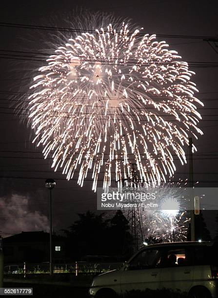 Firework Display In City