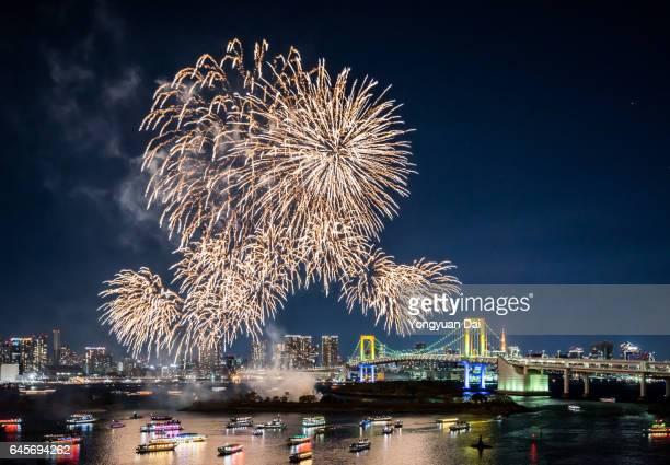 Firework Display in Tokyo Bay
