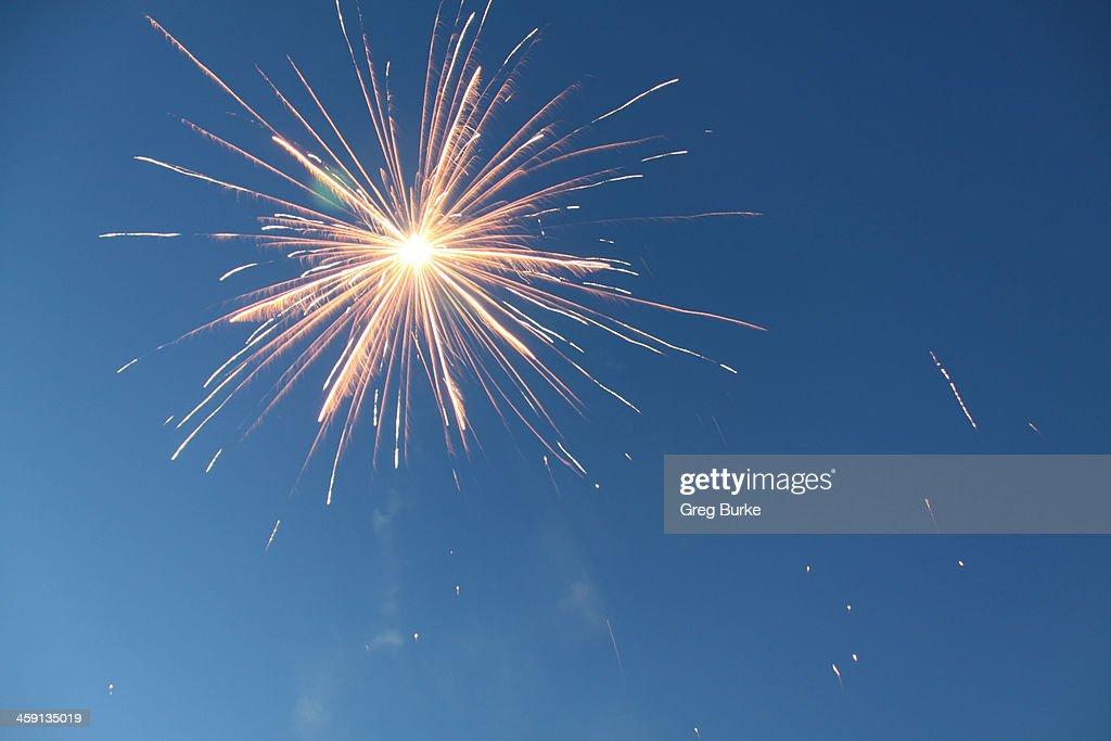 Firework explodes in Sky