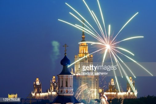 Firework in Moscow