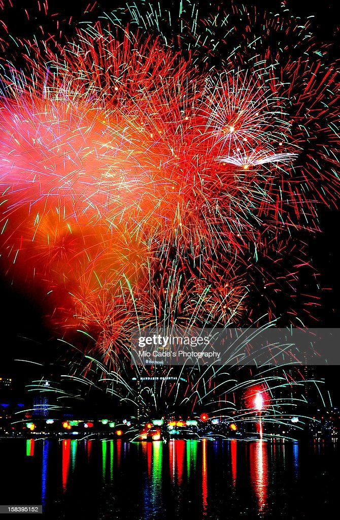 Firework @ National Day Parade : Stock Photo