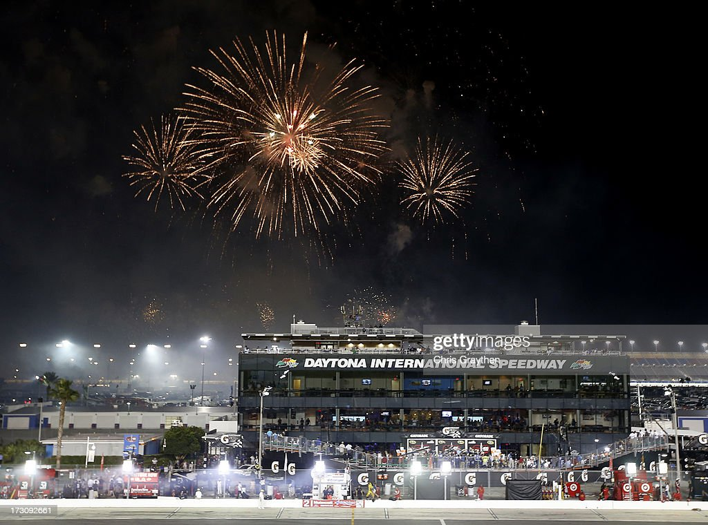 Fireworks are set off following the NASCAR Sprint Cup Series Coke Zero 400 at Daytona International Speedway on July 6, 2013 in Daytona Beach, Florida.