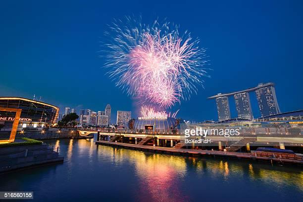 Fireworks at Fullerton, Singapore