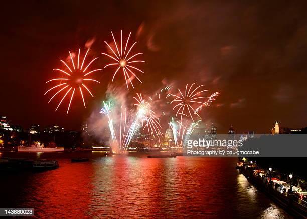 Fireworks at Thames festival