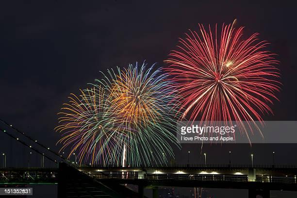 Fireworks at Tokyo bay