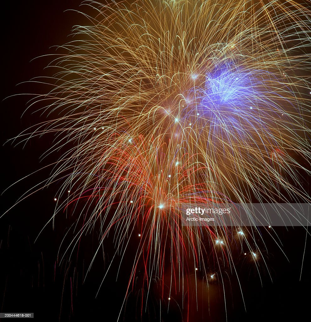 Fireworks, close-up : Stock Photo
