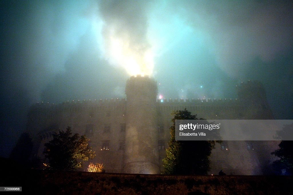 Fireworks explode over the Castello Odescalchi where Katie Holmes and Tom Cruise were wed on November 18, 2006 in Bracciano, near Rome, Italy.