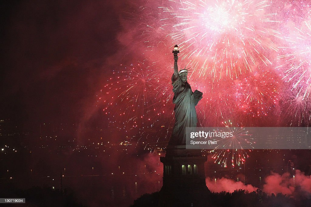 Fireworks explode over the Statue of Liberty in celebration of the anniversary of its dedication on October 28, 2011 in New York City. The celebrations for the worldwide symbol of freedom and of friendship between France and the United States included the naturalization of 125 new citizens from 46 nations and the installation of Internet webcams on the statue.