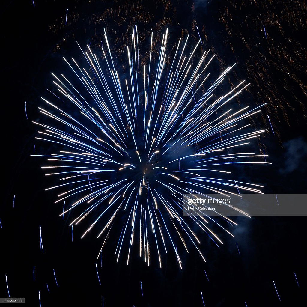 Fireworks exploding in night sky