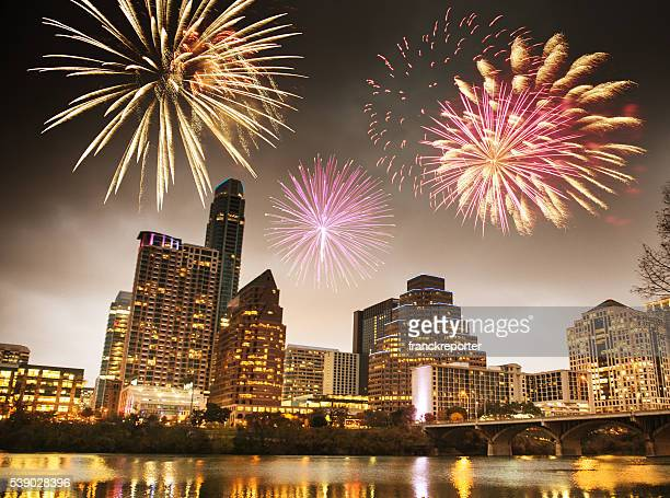 fireworks for a national holiday in Austin - Texas