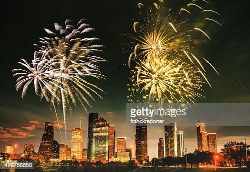 Fuochi d'artificio per la festa nazionale a Houston