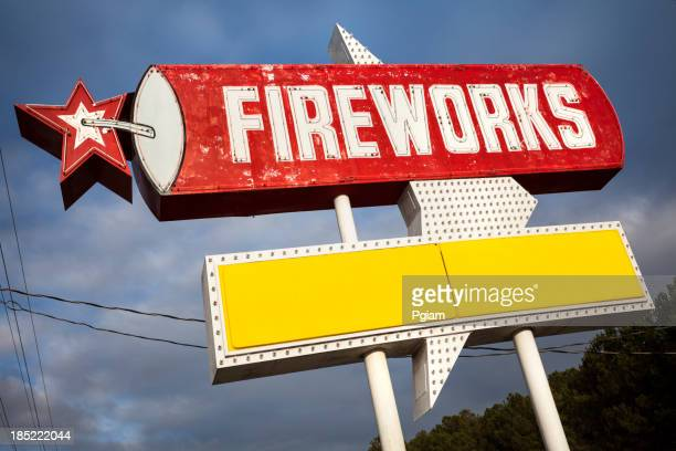 Fireworks for sale sign