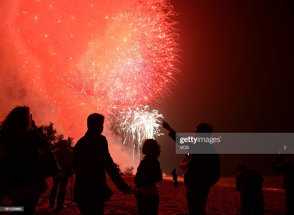 Fireworks illuminate the skyline to celebrate Chinese Lunar New Year of Snake on February 10, 2013 in Xiamen, China. The Chinese Lunar New Year of Snake also known as the Spring Festival, which is based on the Lunisolar Chinese calendar, is celebrated from the first day of the first month of the lunar year and ends with Lantern Festival on the Fifteenth day.