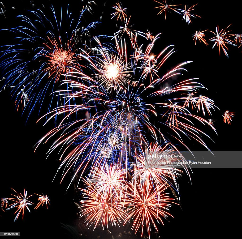 Fireworks in Cedar Hills : Stock Photo
