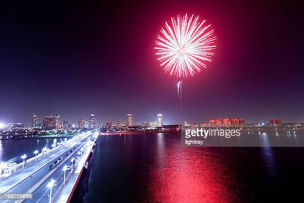 Fireworks in St Petersburg