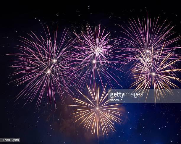 Fireworks light up the night sky in celebration