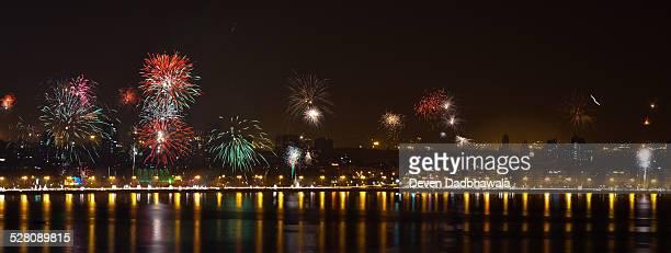 Fireworks - Mumbai Maine drive - Diwali Festival