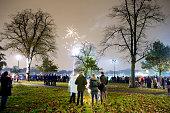 Fireworks on Clapham Common London
