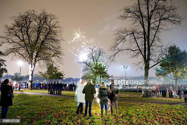 Fireworks on Clapham Common London