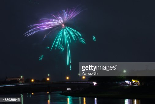 fireworks on river