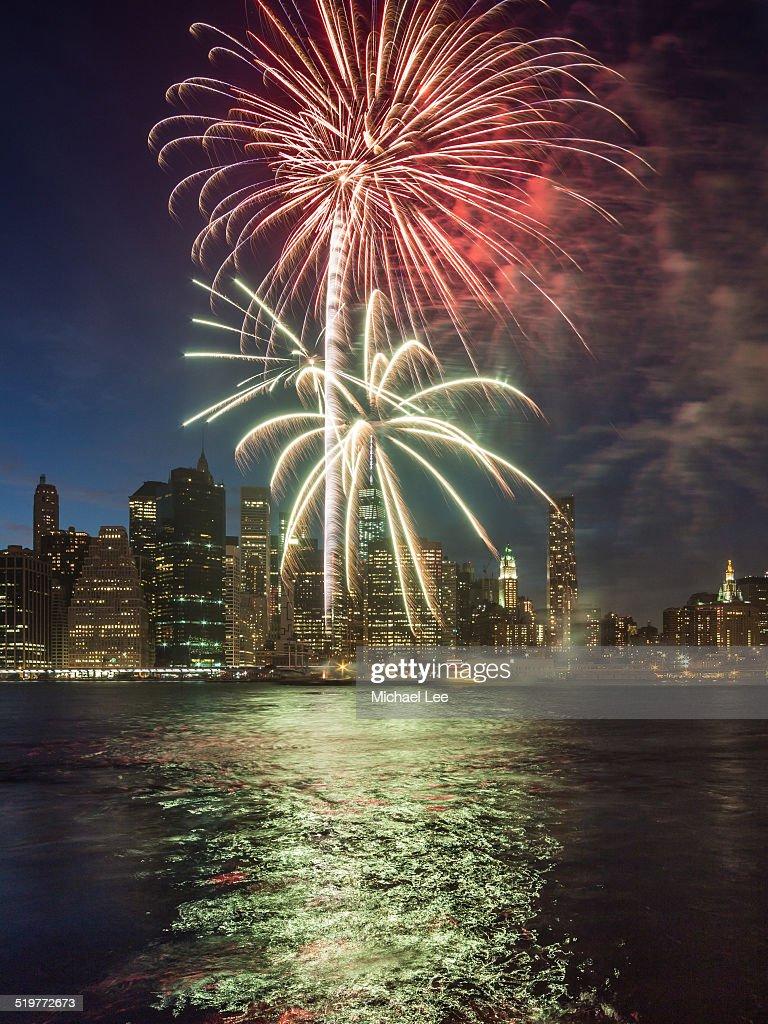 Fireworks Over New York's East River