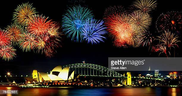Fireworks over Sydney Harbor Bridge, Australia